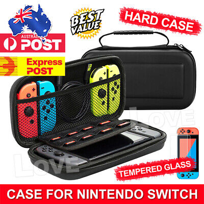 AU16.95 • Buy For Nintendo Switch Carry Bag Storage Case Console Protect Shell Tempered Glass