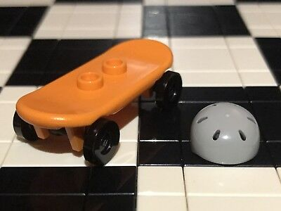 Lego Skateboard With Helmet X1 City / Sports / Racer / Minifigure Not Included. • 1.99£