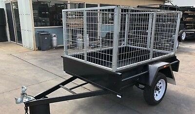 AU1725 • Buy 7X5 Single Axle Box Trailer | 3FT Cage | 750kg | Fixed Front | NEW
