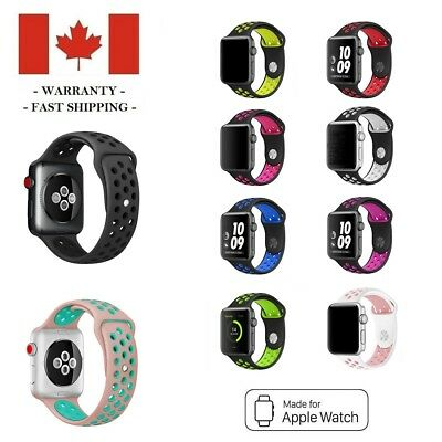 $ CDN5.49 • Buy 38 42 Mm Silicone Sports Band Replacement Strap For Apple Watch Series 3 2 1