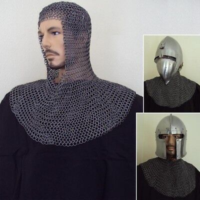 16G, High Tensile Chainmail Mail Coif,  Ideal For Stage, Re-enactment Or LARP • 38.50£