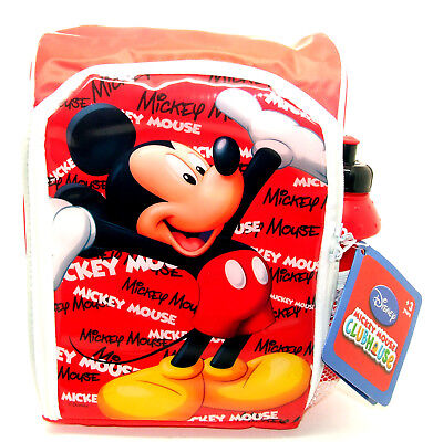Disney Mickey Mouse Insulated School Lunch Bag & Drinks Bottle - Lunch Box • 3.95£
