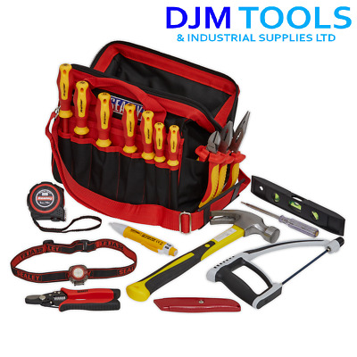Sealey EK1181 Electrician's Tool Kit 19pc With Storage Bag • 137.95£