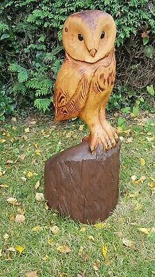 Barn Owl Chainsaw Carving Sculpture Wood Wooden Garden Ornament  • 180£