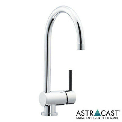 Astracast Alliance Single Lever BLACK HANDLE Chrome Kitchen Sink Mixer TapTP1008 • 59.99£