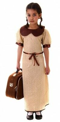 Evacuee Child WW2 Wartime School Costume Girls Book Week Day Dress Party Outfit • 8.99£