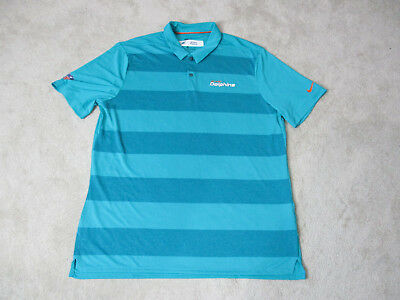 8e8e96a0a NIKE Miami Dolphins Polo Shirt Adult Extra Large Green Dri Fit TEAM ISSUE  Men A3 •