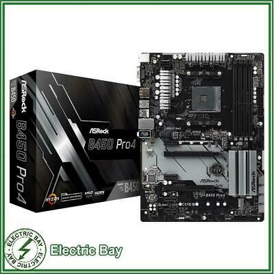 AU165 • Buy ASRock B450 Pro4 AMD AM4 ATX Gaming Motherboard DDR4 M.2 DP HDMI D-Sub USB 3.1