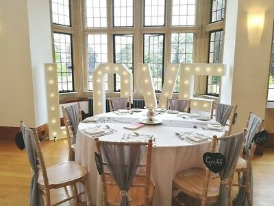 HIRE Giant 5ft Love Illuminated Letters White Wedding Decoration Photo Prop • 95£