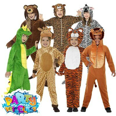 Kids Zoo Animal Costume Jumpsuit Girls Boys Fancy Dress Outfit Childs Book Day • 13.29£