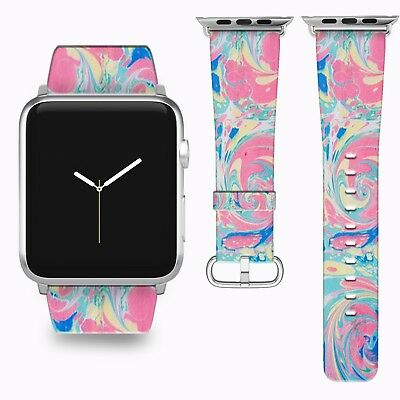 $ CDN46.44 • Buy Vintage Abstraction Apple Watch Band 38 40 42 44 Mm Series 1 - 5 Wrist Strap 1