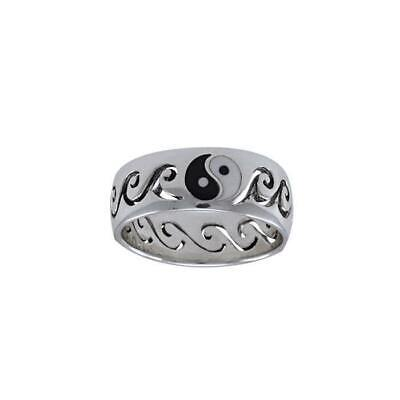 Yin Yang Waves Surf Ring .925 Sterling Silver By Peter Stone Jewelry • 29.96£