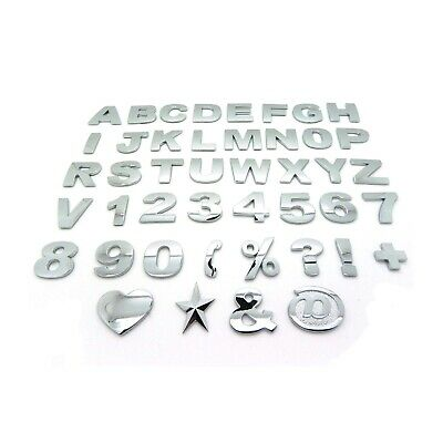 £1.19 • Buy Chrome 3D Self-adhesive Letter Number Car Badge Emblem Sticker For Home & Auto