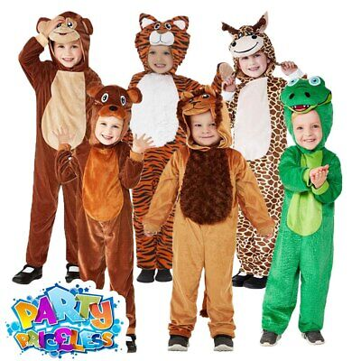 Kids Zoo Animal Costume Jumpsuit Toddlers Girls Boys Fancy Dress Outfit Book Day • 12.99£