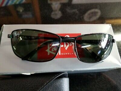 076fa88fb2 Ray Ban RB 3498 002 9A Black Polarized Green New Authentic Sunglasses •  130.00
