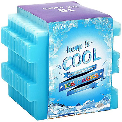 OICEPACK Freezer Blocks For Lunch Box Cool Bags Reusable Ice Packs Long-Lasting • 14.30£