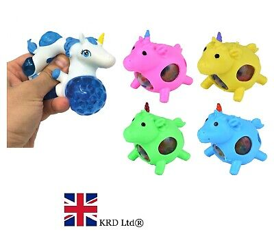 AU6.25 • Buy UNICORN SQUISHY GRAPE BEAD BALL Squeezy Stress Relief Kids Party Bag Filler Toy