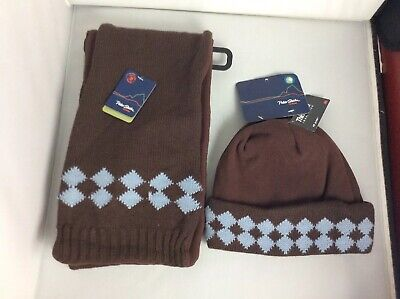 BNWT Peter Storm Thinsulate 40g Matching Hat & Scarf Brown Large XL  • 11.99£