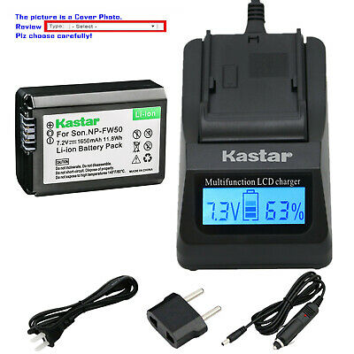 $ CDN40.27 • Buy Kastar Battery LCD Fast Charger For Sony NP-FW50 BC-VW1 & ILCE-6000 Alpha A6000