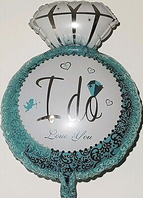 AU8.50 • Buy  3 X I DO Foil Balloon LOVE YOU Engagement Wedding DIAMOND RING HEART Party