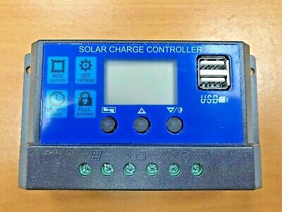 20A LCD Solar PV Charge Controller With USB Output 12V /24V • 14.95£
