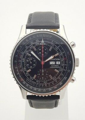 $379 • Buy Aviation Automatic Chronograph Watch Valjoux 7750 Movement Clone New Orig. Box