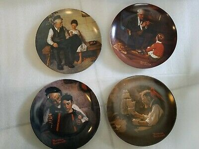 $ CDN51.89 • Buy Norman Rockwell Lot Of 4  Collector Plates  8.5