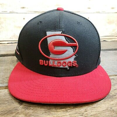 New Era Georgia Bulldogs 59FIFTY Fitted Hat Black And Red Size 7 3 8 Ball 6b01d0c88fb
