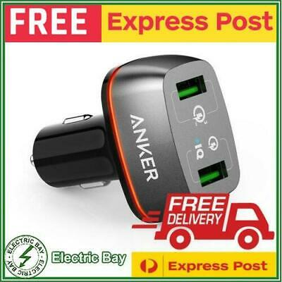 AU34.95 • Buy Anker PowerDrive+ 2 Port 24W Dual USB Car Charger With Quick Charge 3.0 NEW