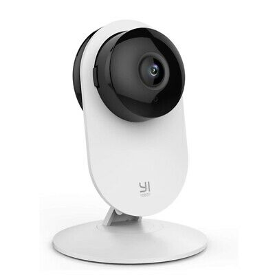 YI Dome IP Camera 1080p HD WIFI CCTV Night Vision Motion Detection Two Way White • 25.99£