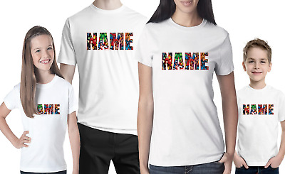 £8.99 • Buy Marvel Personalised Logo T-shirt   YOUR NAME  Stag Do Hen Mens Women's Party Tee
