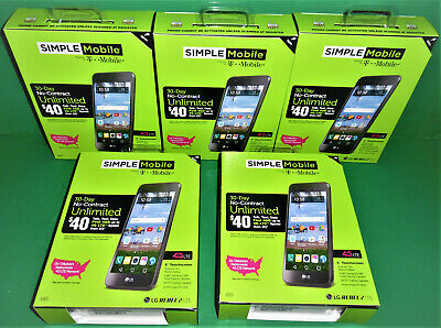 $ CDN378.60 • Buy LOT OF 5 SIMPLE Mobile LG REBEL 2 4G LTE With $25 Plan INCLUDED FOR EACH PHONE