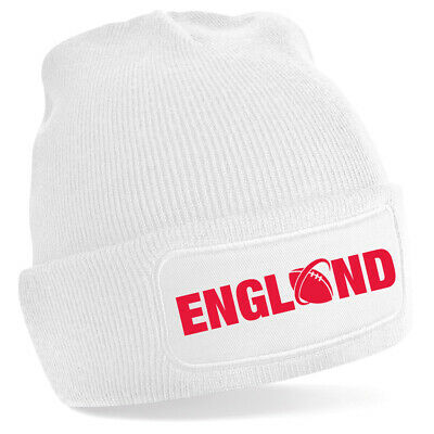 £7.97 • Buy England Rugby Six Nations Football Beanie Hat 7 Colours