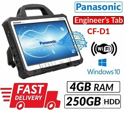 13.3  PANASONIC TOUGHBOOK CF-D1 INTEL 847 4GB 250GB WIN 10 For Diagnostic Tablet • 160£