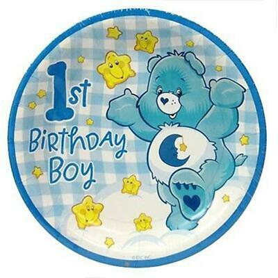 £3.58 • Buy Care Bears Boys 1st Dessert Cake Plates Birthday Party Supplies 8 Per Package