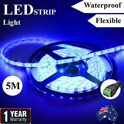 AU9.89 • Buy Blue Waterproof 12V 5M 2835 SMD 300 Leds LED Strip Lights Car Boat Caravan