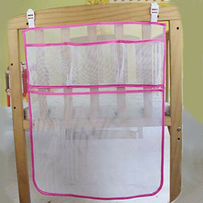 New Crib Storage Bag Mesh Baby Cot Diaper Nappy Clothes Hanging Organizer Holder • 5.49£