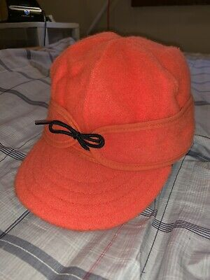 239e7996198c5 Stormy Kromer Cap Original Wool Men s Size 7 3 8 Hunting Hat Orange Gore-
