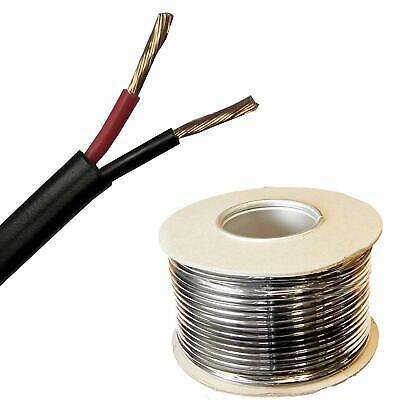 Automotive 12v 24v Stranded 2 Core Twin Thin Wall Red/black Auto Cable Wire • 32.97£