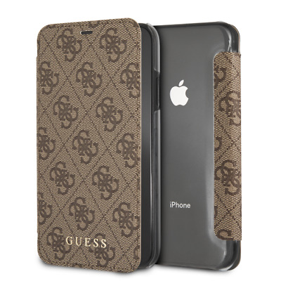 £18.63 • Buy IPhone XR CG MOBILE GUESS CHARMS COLLECTION Brown Book Case Flip Cover Luxury