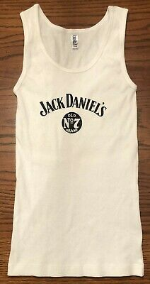 1062f08efe72de RARE JACK DANIELS WOMENS No 7 WHITE TANK TOP SIZE   SMALL PS. LADIES SHIRT