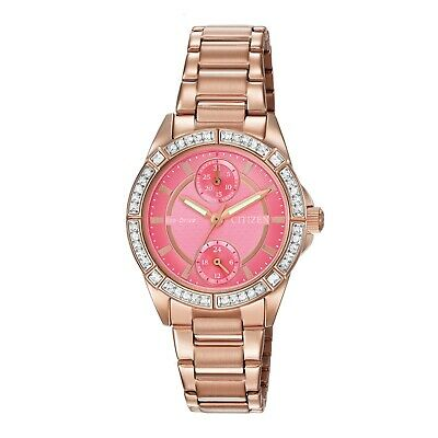 $ CDN76.11 • Buy Citizen Eco-Drive Women's POV Crystal Accents Rose Gold-Tone Watch FD3003-58X