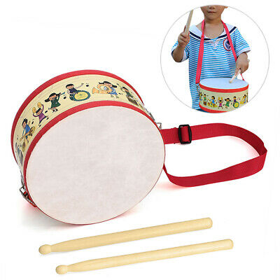 £13.77 • Buy New Kids Drum Sticks Set Child Wooden Musical Percussion Instrument Toy W/Strap