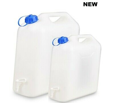 Water Storage Containers Litre Carrier Tap Spout Food Grade Jerry 10/20l Ltr Can • 9.99£