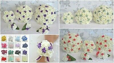 £3.15 • Buy Wedding Bouquet In Ivory Or White. Babies Breath Choose Colour. Flower Girl Wand