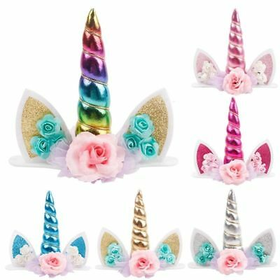 AU13.95 • Buy AU Unicorn Glitter Cake Topper Birthday Cake Decor - 6 Colours Available