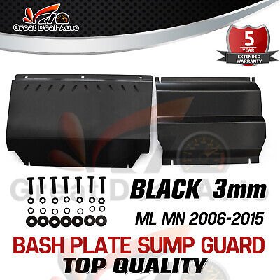 AU134 • Buy Steel Bash Plate For Mitsubishi Triton ML MN 2006-2015 Front Sump Guard Black