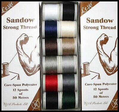 £1.79 • Buy Samson Core Spun Strong Polyester Thread 50m Spools - Assorted Colours