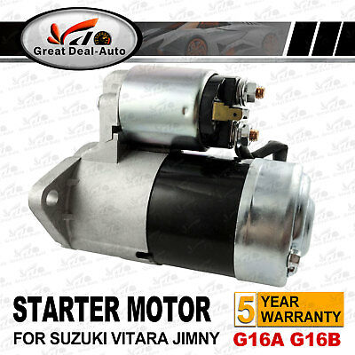 AU86.95 • Buy Starter Motor For Suzuki Grand Vitara Sq416 G16b Se416 G16a Swift Sf416 1.6l