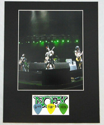 $ CDN198.17 • Buy Eric Melvin Fat Mike Burkett Aaron Abeyta NOFX Concert Used Guitar Picks Display